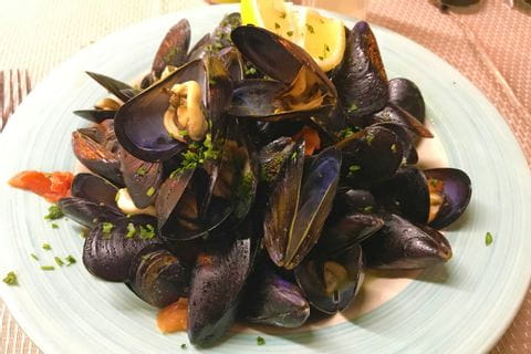 Mussels in San Remo