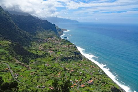 Breath taking hiking scenery at the coast of Sao Jorge