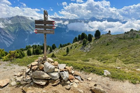Signpost on the Haideralm