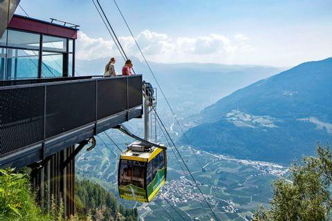 Wanderreise Südtirol Bergstation Texelbahn Ausblick