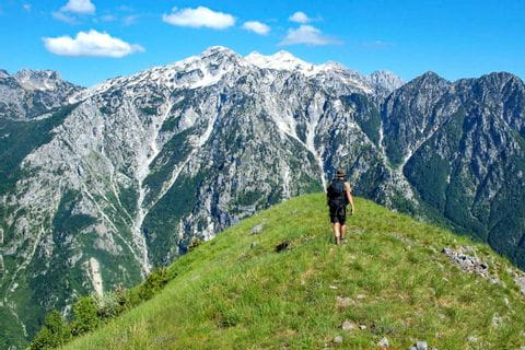 Impressive panoramic views in the northern Albanian Alps