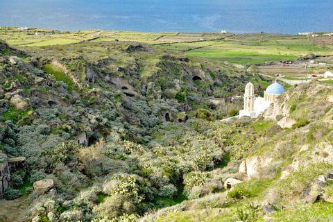 Stunning coast in Santorini