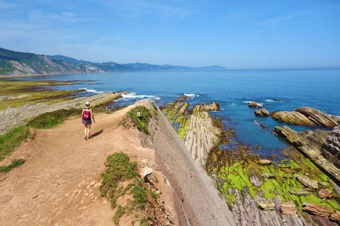 Coastal path in the Basque Country