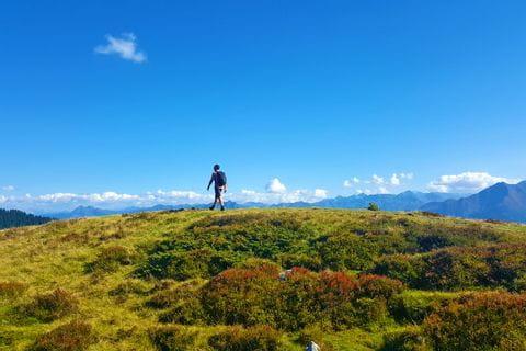 Hiking on Pinzgau mountain route