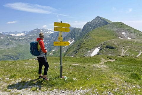 Signpost while hiking in the Gasteinertal