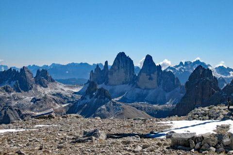 Mountain panorama at the Dolomites