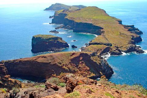 Rough coastlines at hiking paradise Madeira