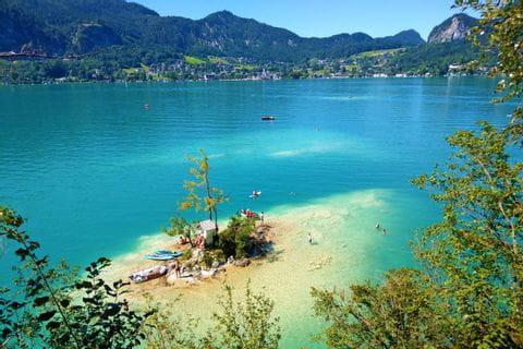 Bathing bay on Lake Wolfgang