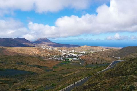 Valley of the 1000 palm trees in Lanzarote