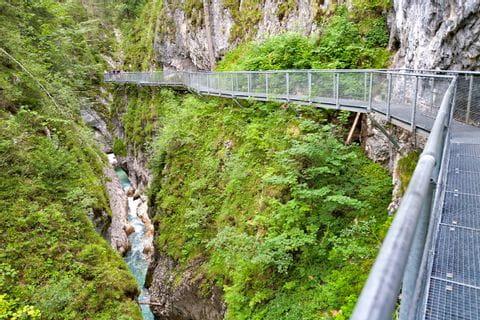 Nice hiking path along Partnach gorge