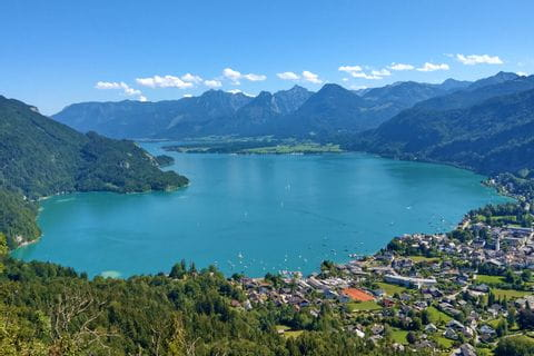 Panoramablick über den Wolfgangsee