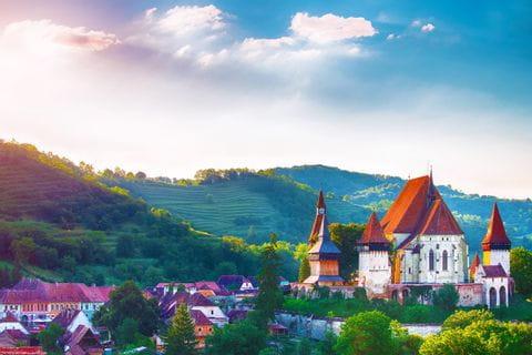 Castle in Romanian Transylvania