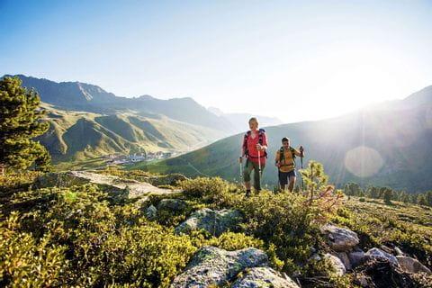 Wanderer am Innsbruck Trek