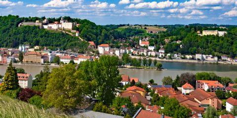 Blick auf die Dreiflüssestadt Passau