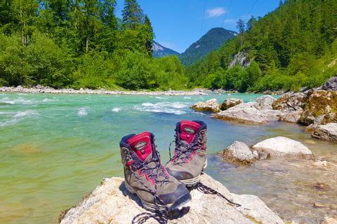 Hiking break at the Saalach