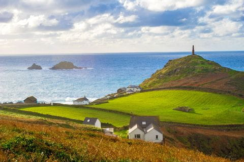 View of the famous Cape Cornwall