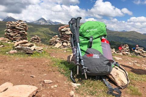 Eurohike Wanderrucksack bei Steinernen Mandln in Südtirol