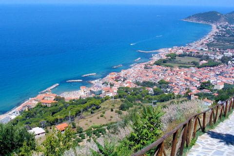 The city of Castellabate is located directly on the coast