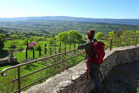 Mediterranean vegetation and architecture deep down of village Goult