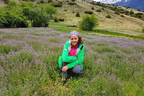 Isabella von Eurohike beim Wandern auf der Via Claudia Augusta