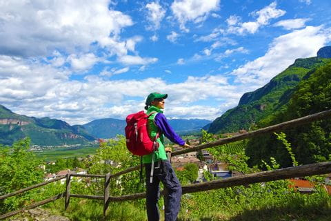 Mountain hiking pleasures in Vinschgau at Ortler mountains
