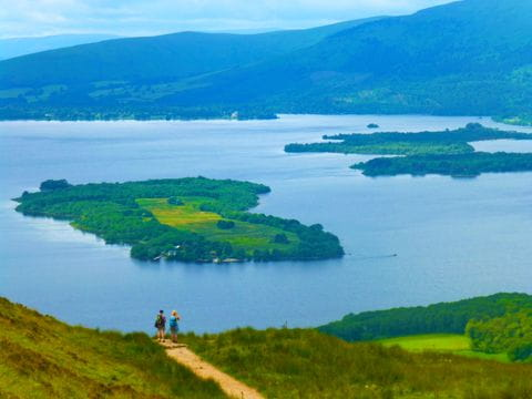 Hikers on the way at Loch Lomond