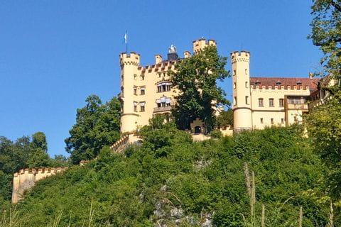 Castle Hohenschwangau at the Lechweg