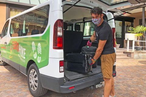 Eurohike luggage transfer in South Tyrol