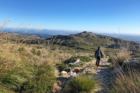 Wanderer auf den Wegen Mallorcas