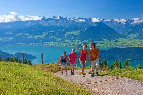 Hiking to the Rigi