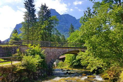 Bridge with mountain view in Pinzgau