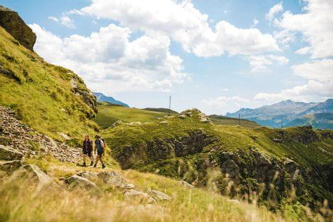 Impressive mountainside at the Via Spluga