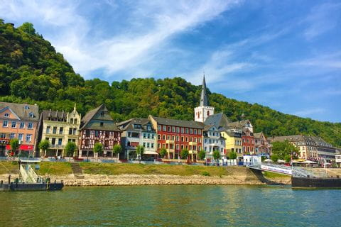Rhine view on a hiking holiday