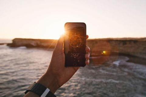 App für Kompass beim Wandern