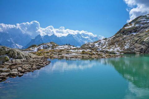 Lac Blanc on Mont Blanc