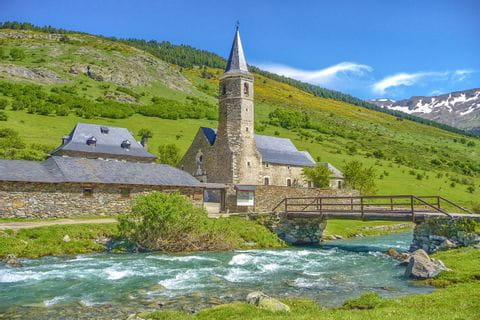 Traditional church in the Pyrenees