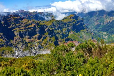 Amazing scenery at the high plateau of Madeira