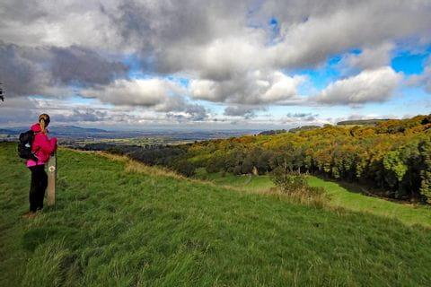Panoramablick auf der Wandertour Cotswolds und Shakespeare