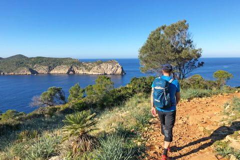 Hikers on Sant Elm