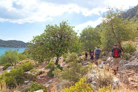 Hiking along the Lycian path