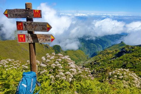 Stunning panoramic view while hiking on Madeira