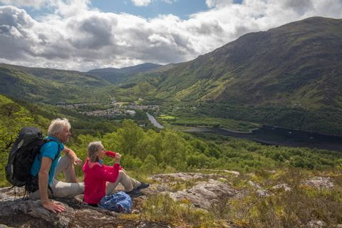 Hikers during the hiking break in Kinlochleven
