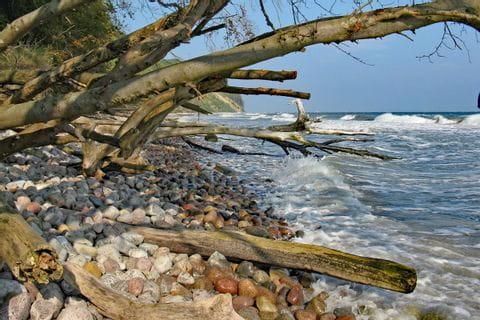 Calming sea at Ruegen