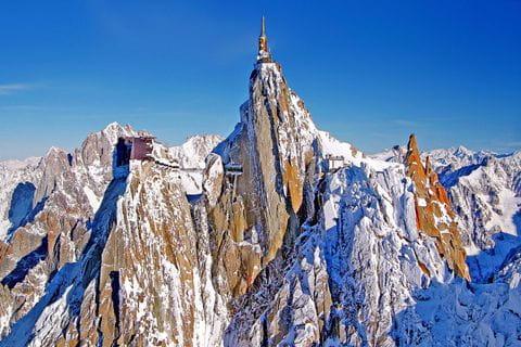 Aiguille du Midi mountain station on Mont Blanc