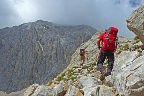 Hikers doing the Rila and Pirin Trekking