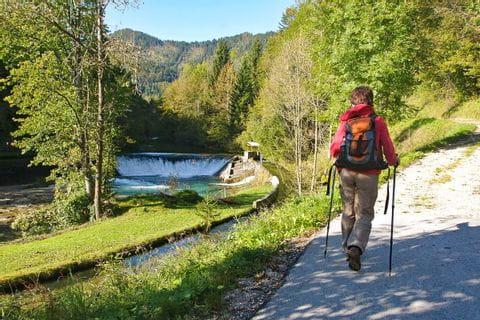 Hiking path aloung the river Radovna