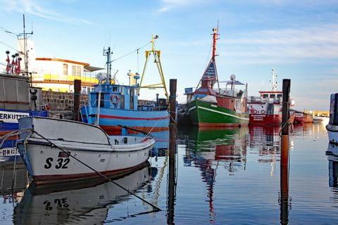 Fisher harbor in Ruegen