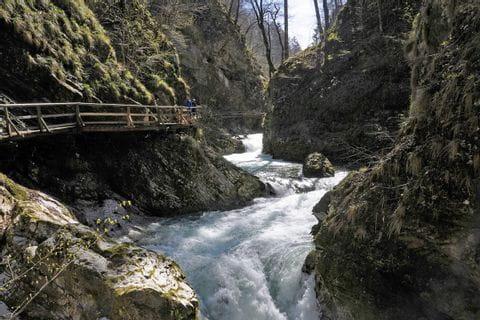Hiking highlight waterfall Savica