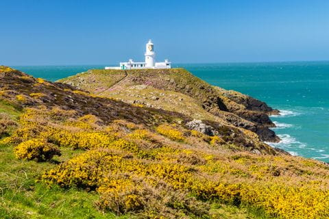 Picturesque lighthouse at Strumble Head
