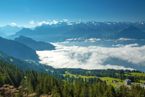 Hiking panorama from Rigi Rotstock
